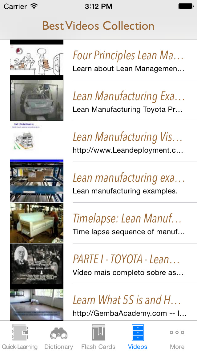 Lean Manufacturing & Technology Quick Study Reference: Best Dictionary with Video Lessons and Learning Cheat Sheets screenshot 5