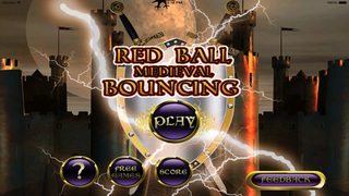 Red Ball Medieval Bouncing : Avoid Spikes screenshot 5