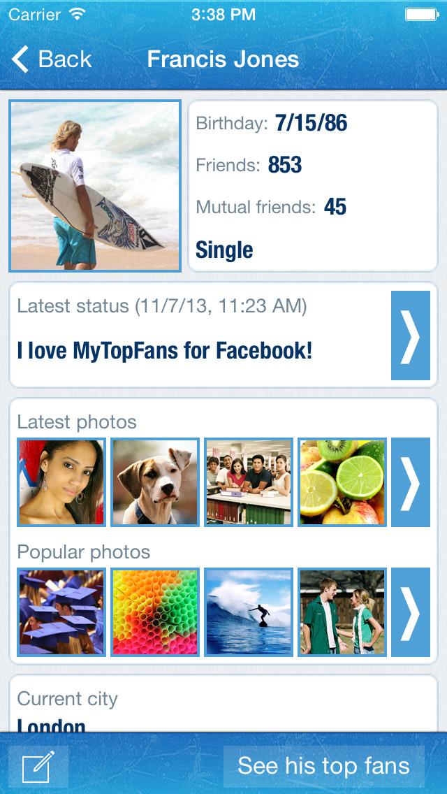 MyTopFans Pro for IG screenshot #4