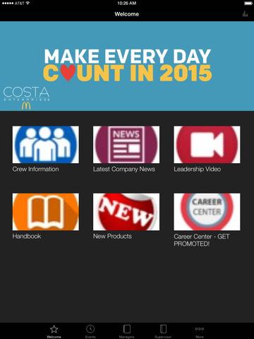 Costa Ent Employee App screenshot 5