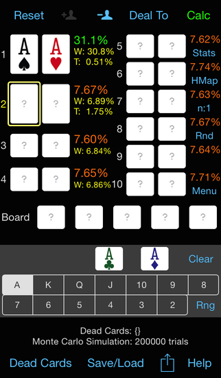 PokerCruncher - Basic - Odds screenshot 2