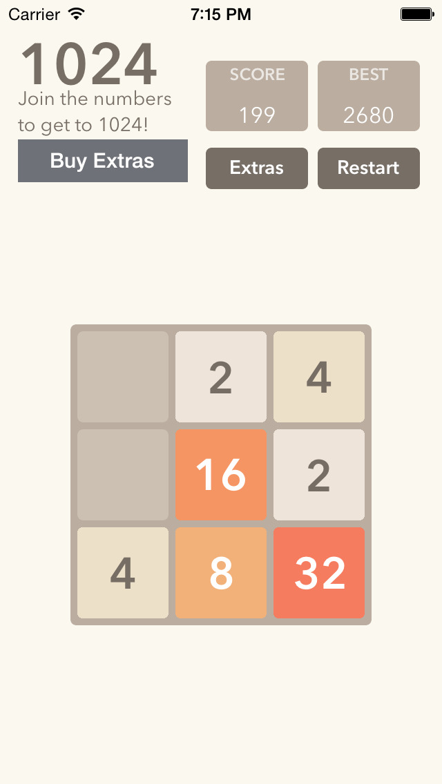 2048 Slider - The 2048 Number Puzzle Game screenshot 3