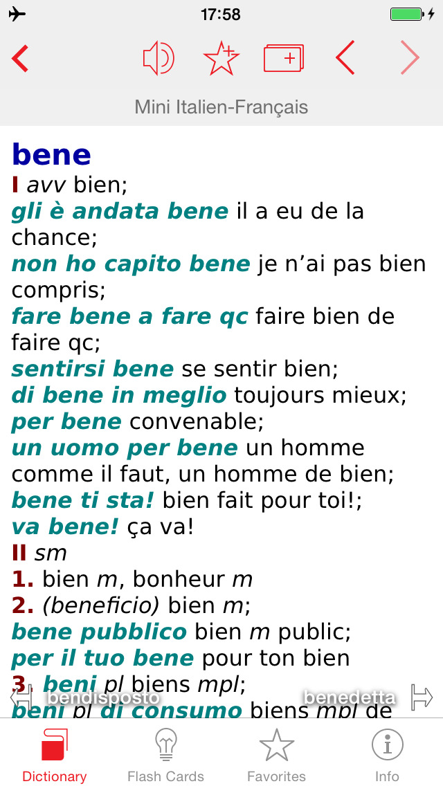 Italian - French Berlitz Mini Talking Dictionary screenshot 1