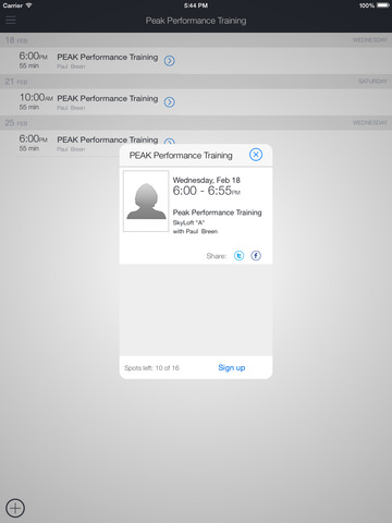 PEAK Performance Training screenshot 4