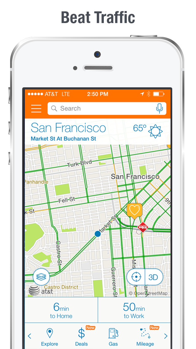 AT&T Navigator: Maps & Traffic screenshot 2