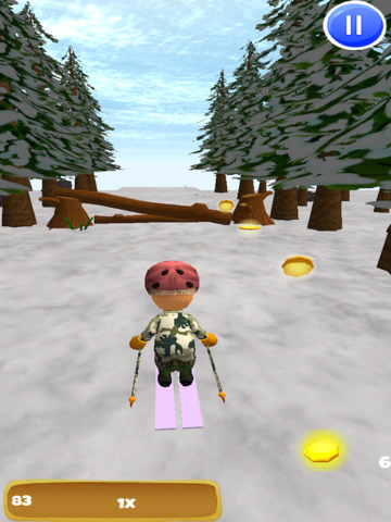 A Downhill Snow Skier: 3D Mountain Skiing Game - Pro Edition screenshot 8