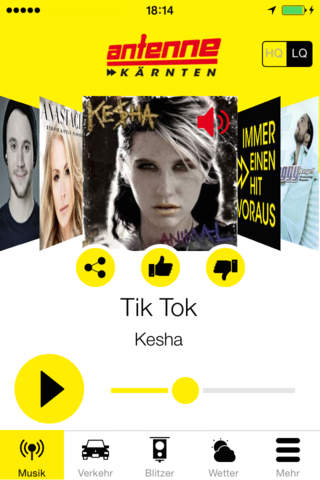 Antenne Kärnten Radio App - náhled