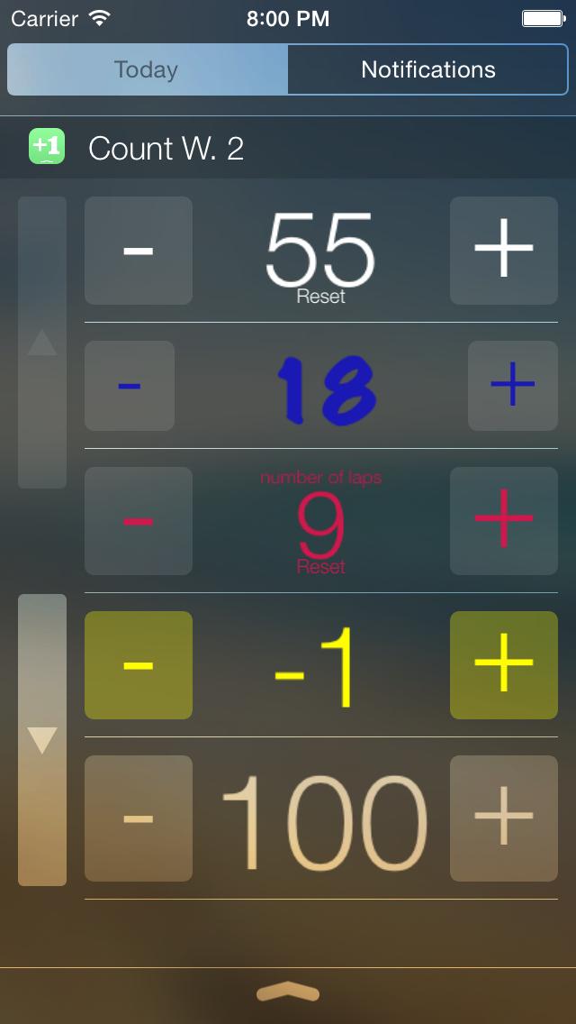 Count Widget screenshot 2