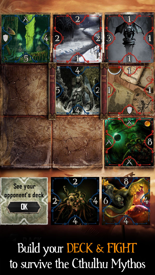 The Moaning Words - Trading Card Game in the Cthulhu Mythos screenshot 2