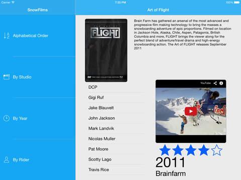 SnowFilms - náhled