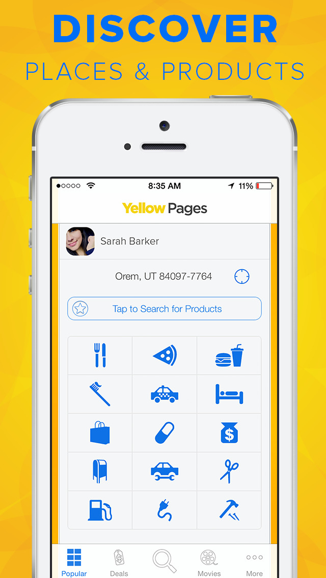 Yellow Pages screenshot 1