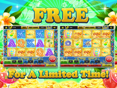 Ace Beach Vacation Slots Casino - Big Island Extreme Jackpot Slot Machine Games Free screenshot 10