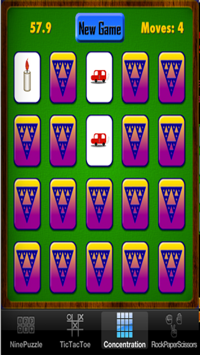Child's Play Games - Tic-Tac-Toe,9-Puzzle,Concentration and Rock-Paper-Scissors screenshot 5