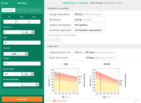 Wolfram Personal Fitness Assistant App screenshot 7