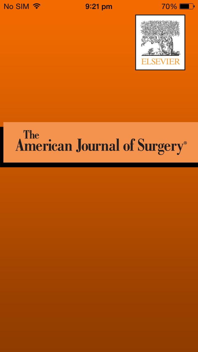 American Journal of Surgery screenshot 1
