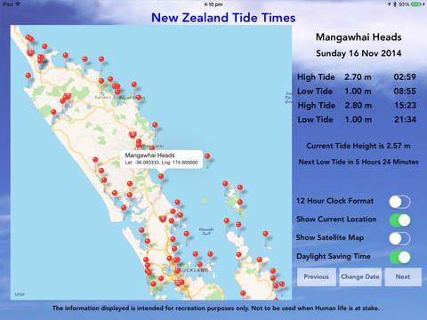 NZ Tides Pro - náhled