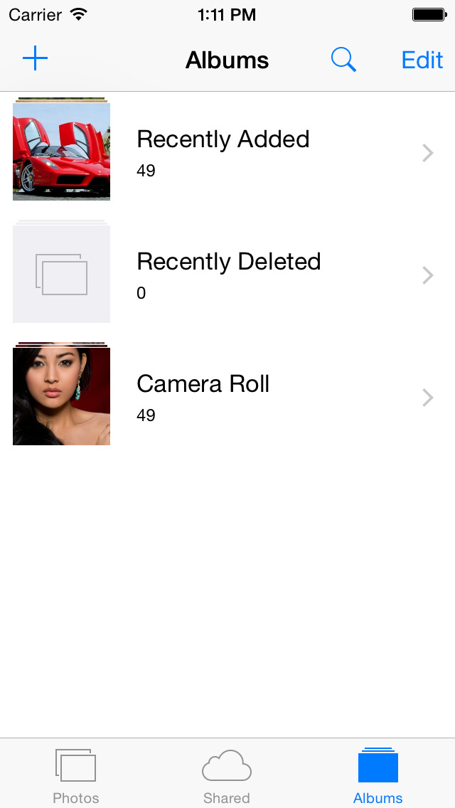 CamRoll - Custom Camera Roll Album for iOS 8 screenshot 1