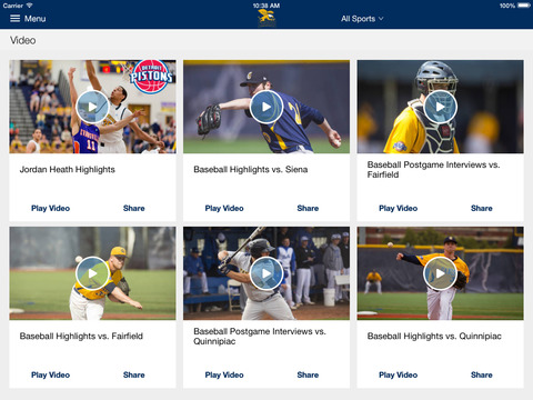 Canisius Athletics for iPad 2014 - náhled
