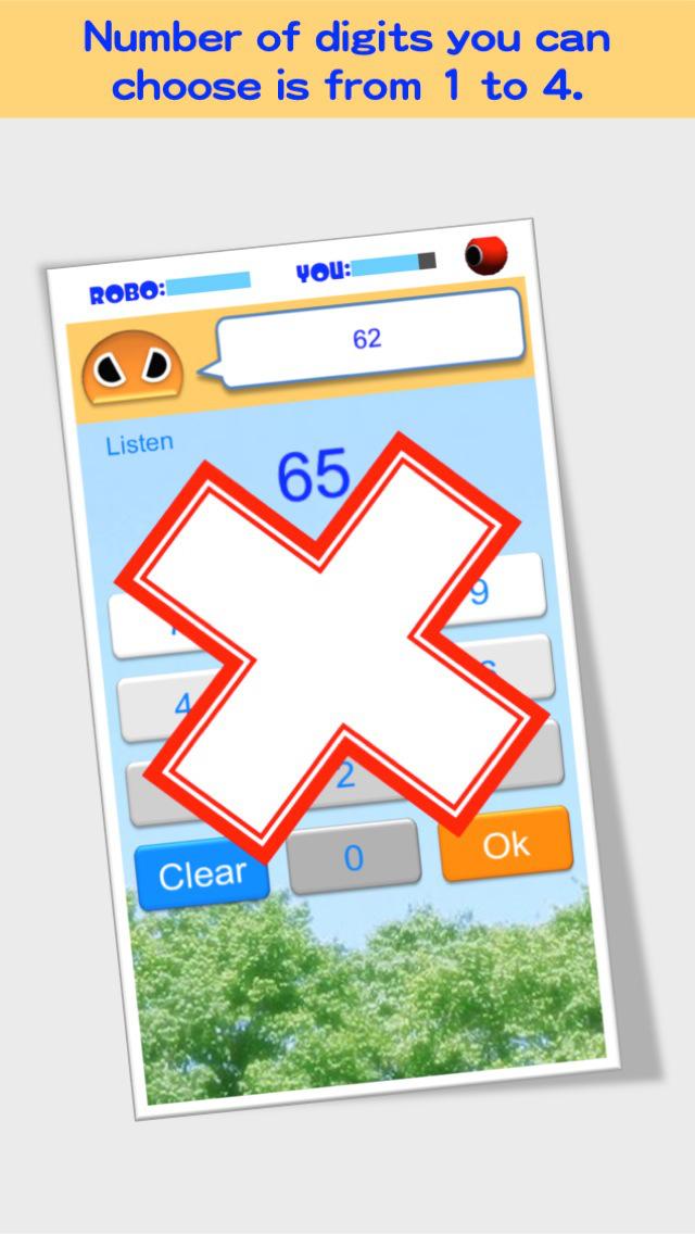 Number Listening Robo FREE screenshot 3