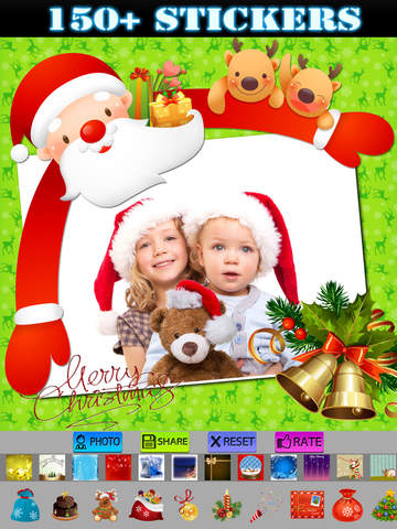 Xmas Frames and Stickers HD screenshot 8