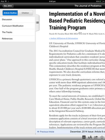 The Journal of Pediatrics screenshot 7
