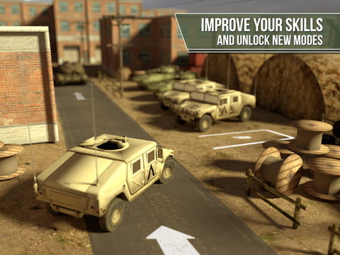 Truck simulator PRO -  Army trucker edition - Test drive and park real military car, plane and tank screenshot 7
