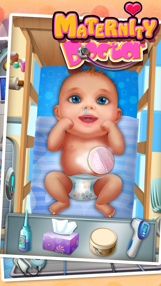 Little Newborn Baby Doctor - kids game & new baby screenshot 4