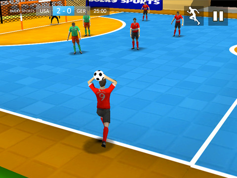 Indoor Soccer 2015: Ultimate futsal football game in beautiful arena by BULKY SPORTS [Premium] screenshot 7