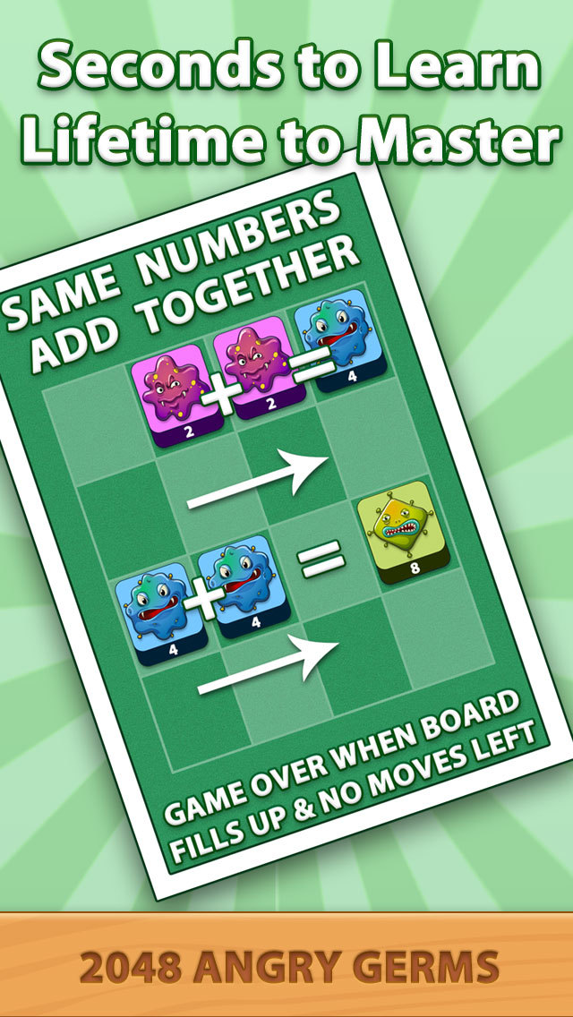 2048 Angry Germs Pro screenshot 4