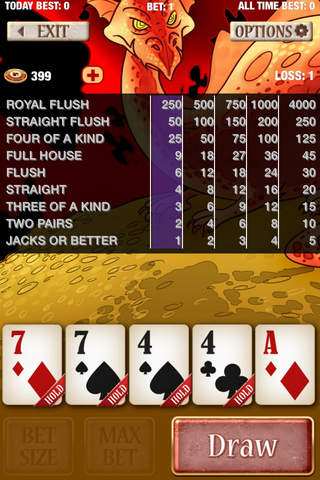 Dragon Video Poker - Jacks or Better, Aces & Faces - náhled