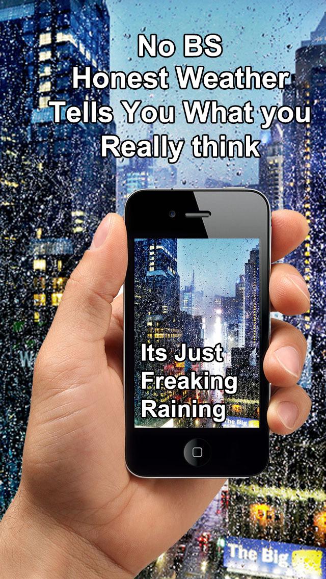 Honest Weather - Most Real, Honest & Authentic Weather app screenshot 1
