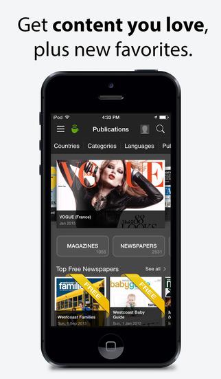 PressReader screenshot 1