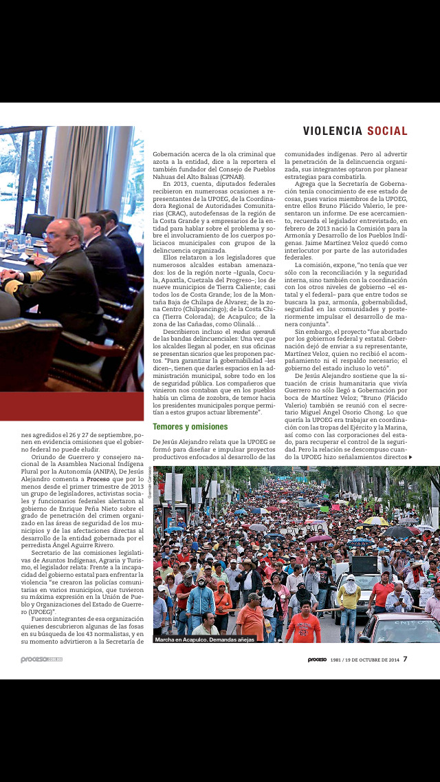 Revista Proceso screenshot 2