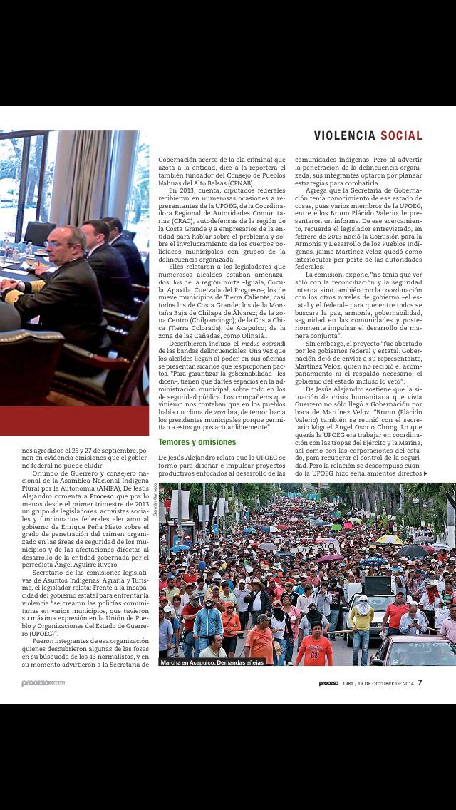 Revista Proceso screenshot 2