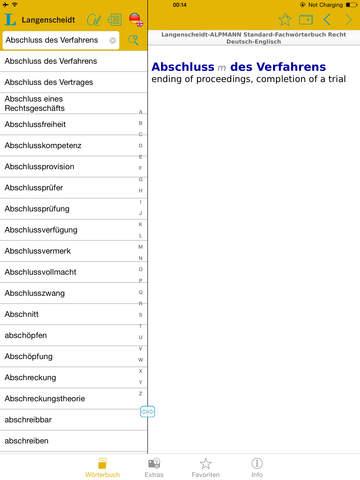 Recht Englisch<->Deutsch Fachwörterbuch Standard screenshot 10