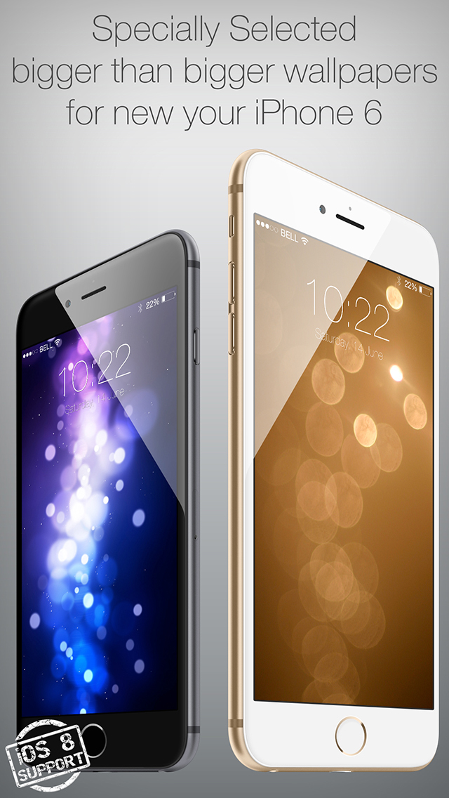 Colored 3D Wallpapers for Your New iPhone and iOS 8 screenshot 2