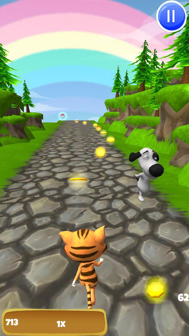 A Tiger Dash 3D: Animal Kingdom of Cats - FREE Edition screenshot 3