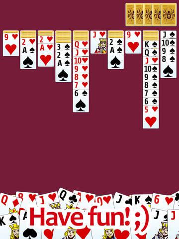 Spider solitaire PRO - classic popular game screenshot 8