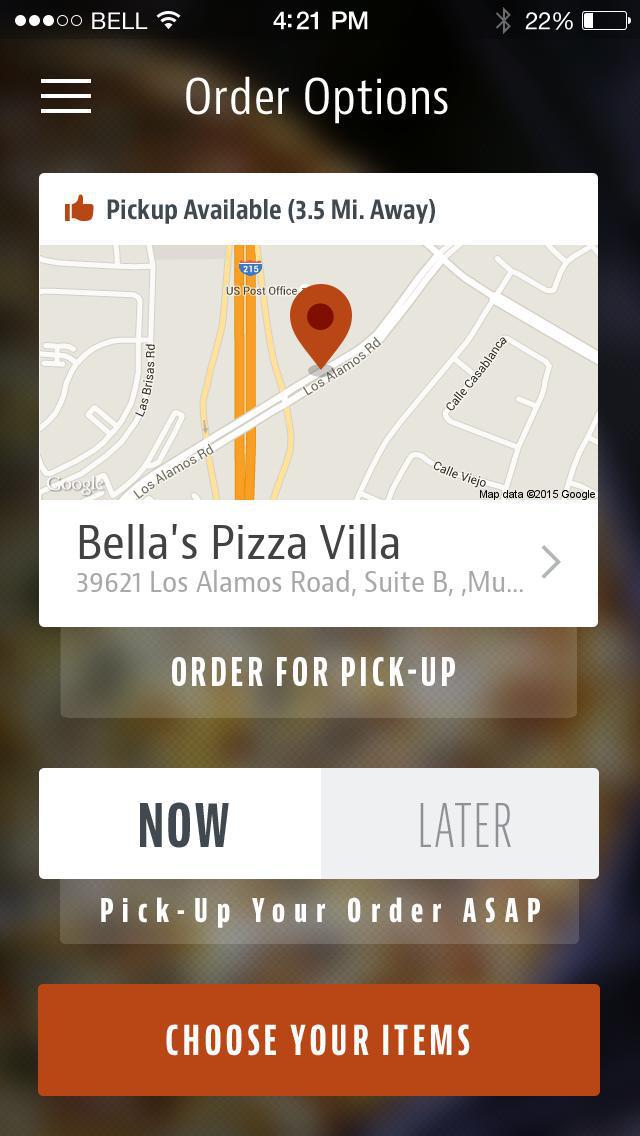 Bella's Pizza Villa screenshot 2