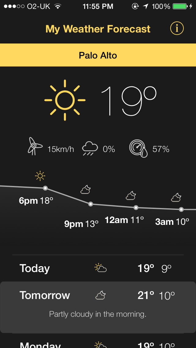 My Weather Forecasts - Conditions, Wind Speed and Reliable Forecasts! screenshot 1