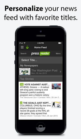 PressReader screenshot 5