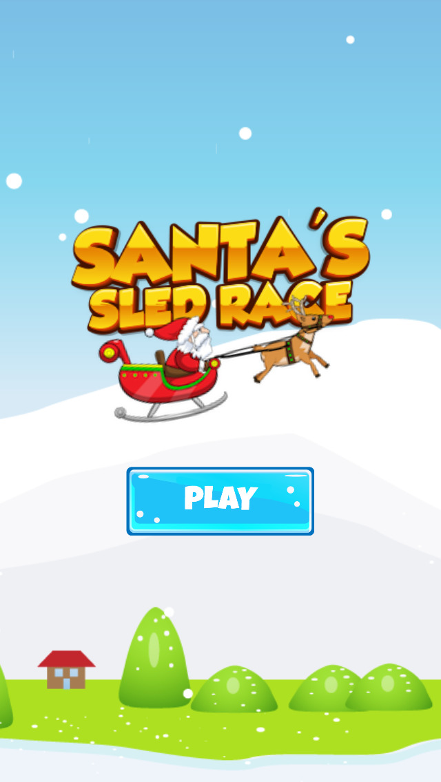 Santa's Sled Race: Free Edition screenshot 4