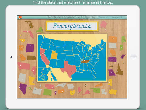 United States Of America LITE - A Montessori Approach To Geography screenshot 3