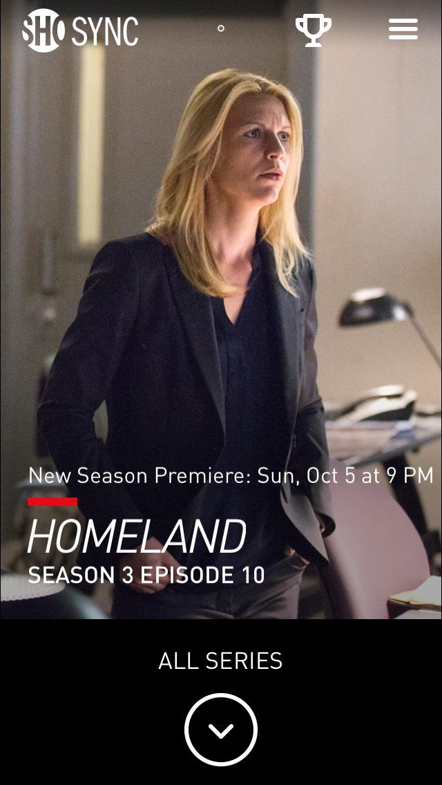 Showtime Sync – Second Screen app for Showtime Original Series screenshot 1