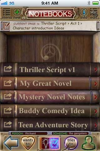 The Storyometer - Idea Source, Outliner and Note-t - náhled