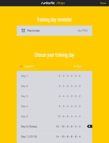 Runtastic Sit Ups: Abs Trainer & Counter screenshot 10