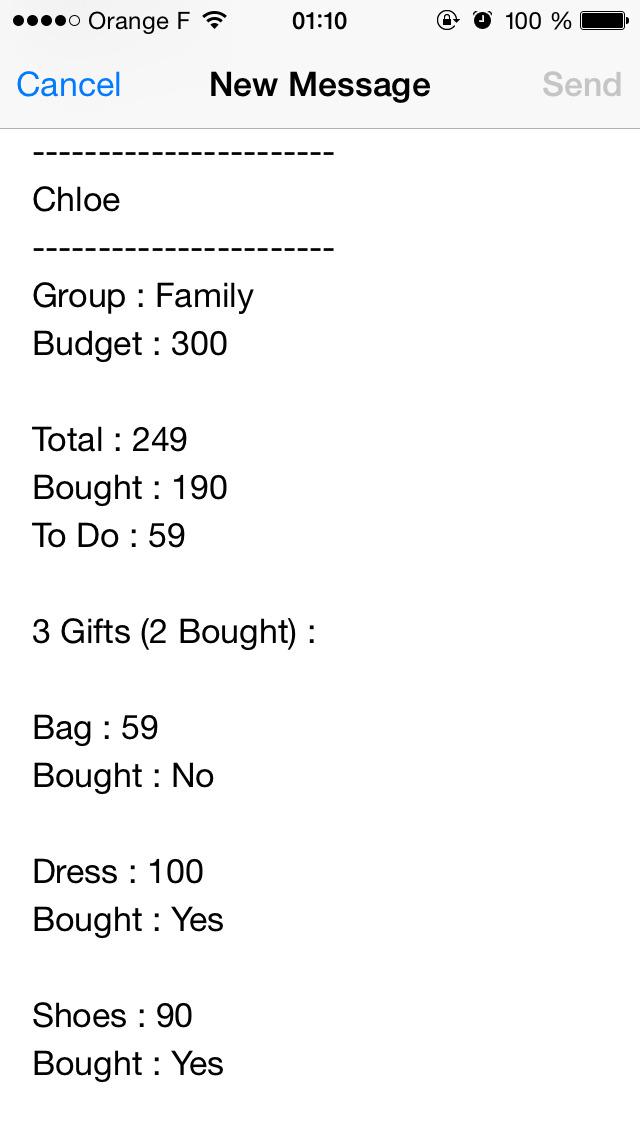 My Christmas Shopping iList screenshot 4