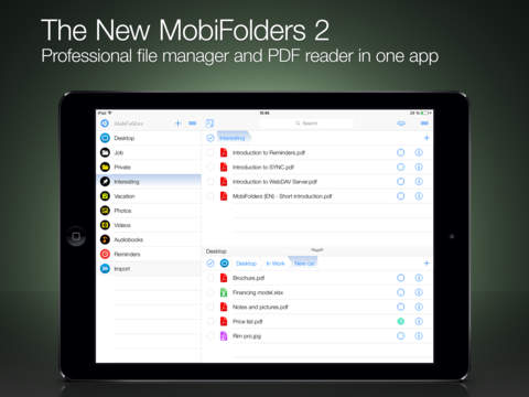 MobiFolders - File Manager and PDF Reader screenshot #1