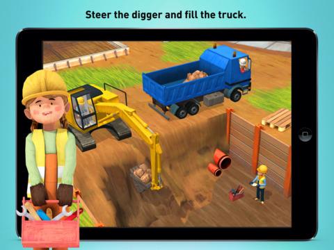 Little Builders - Trucks, Cranes & Digger for Kids screenshot #4