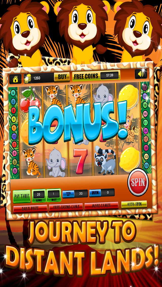 Ace Classic Vegas Baby Tiger Slots - Lucky Safari Gambling Casino Slot Machine Games Free screenshot 3